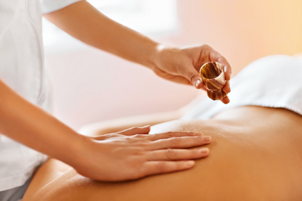 Body massage. Spa therapy. Beauty treatment concept. Skincare, wellbeing, wellness, lifestyle.